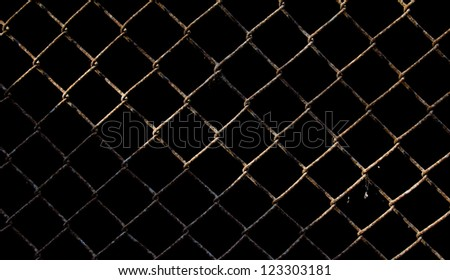 background of rusted metal mesh - stock photo