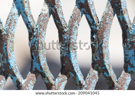 background of rusty metal mesh - stock photo