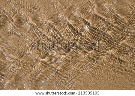 Background of sea on sand. - stock photo