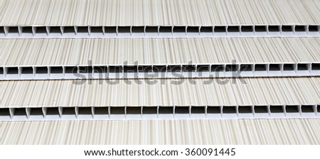 Background of several PVC panels for walls