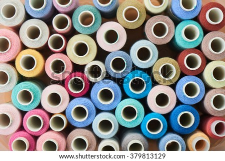 Background of sewing threads