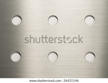 Background of shiny textured metal - stock photo