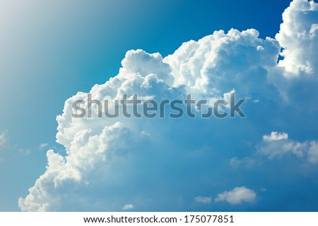 Background of sky. - stock photo