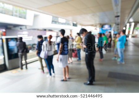 Background of Skytrain or City Train Station, Abstract Blur or Defocus
