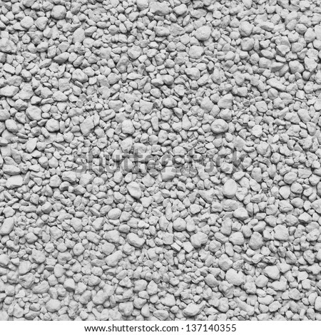 Background of small lumps of white clay - stock photo