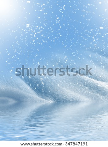 Background of snow. Winter landscape.