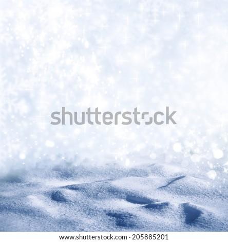 Background of snow. Winter landscape. Photo. - stock photo