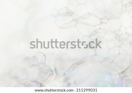 Background of soap foam and bubbles, macro - stock photo