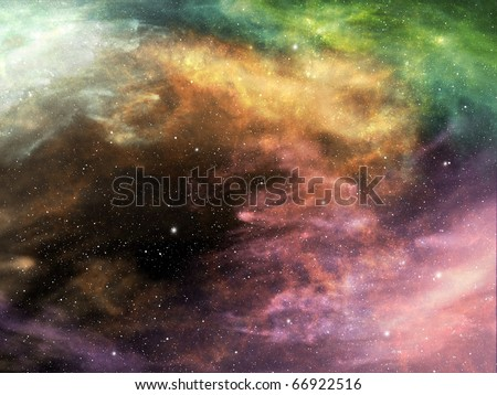 Background of space and nebula - stock photo