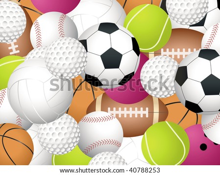 Background Of Sports Balls