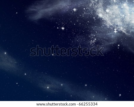Background of star and space - stock photo