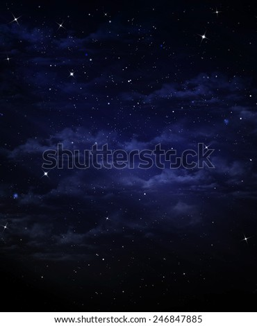 background of starry sky - stock photo