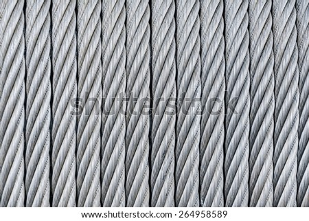 Background Of Steel-Wire Rope  - stock photo