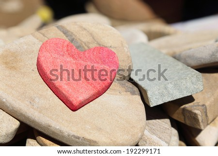 background of stone in heart shape - stock photo