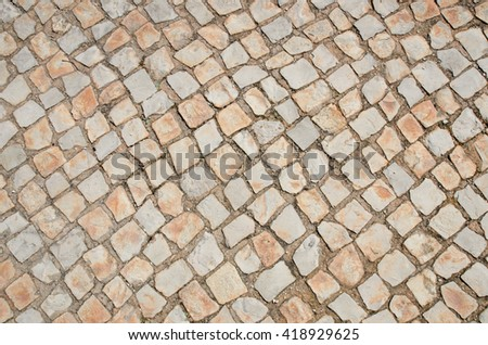 Background of stone paving tiles
