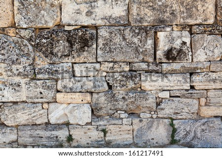 Background of stone wall. - stock photo