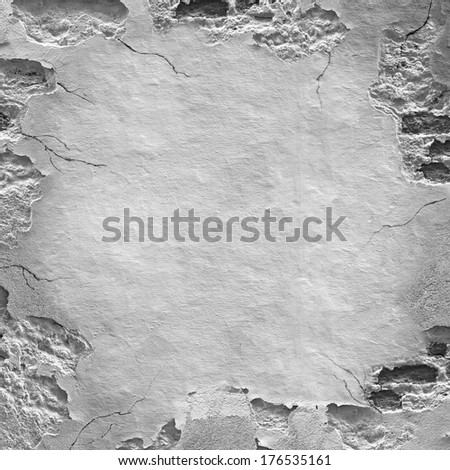 Background of stone wall texture with frame - stock photo