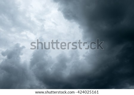 Background of storm clouds before a thunder-storm - stock photo