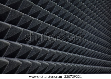 Background of studio sound dampening acoustical foam