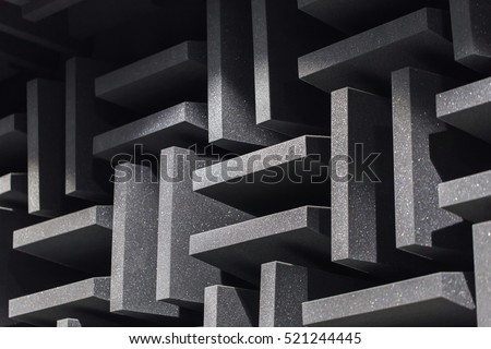 background of studio sound dampening acoustical foam and led light music room soundproof room