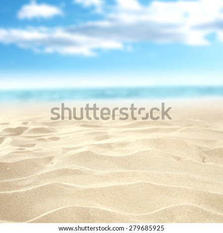 background of summer sea and sand  - stock photo