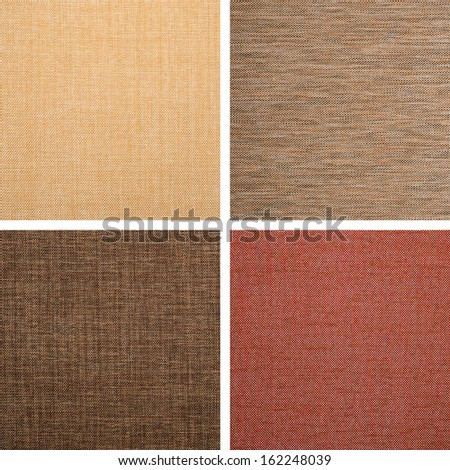 Background of textile texture. Set from 4 elements