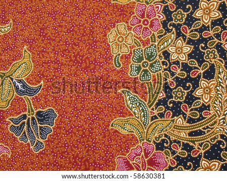 Background of Thai style fabric, General native Thai style handmade fabric pattern - stock photo