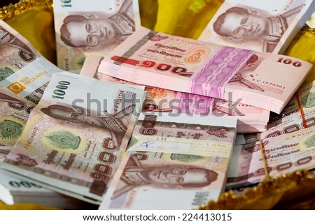 Background of Thai  thousand baht notes