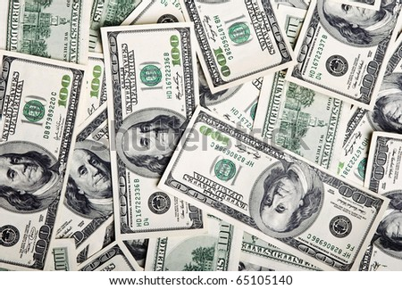 background of the american dollars - stock photo