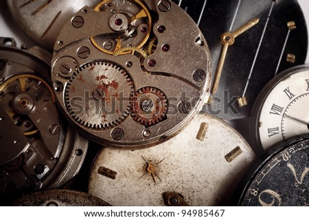 Background of the faulty old timers - stock photo