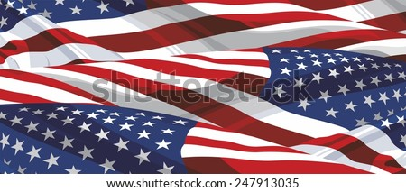 Background of the flag of America - stock photo