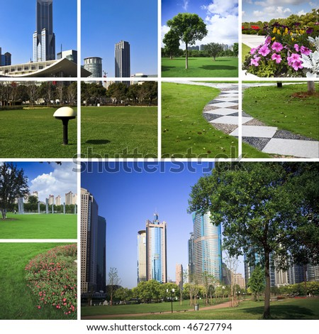 background of the garden of city,concept about citylife. - stock photo