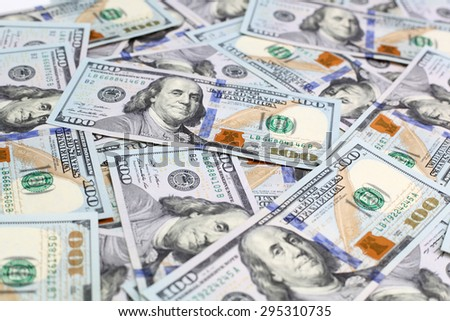 Background of the new dollar bills - stock photo
