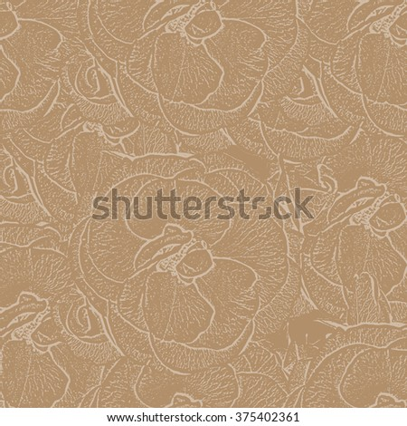 Background of the outlines of roses.