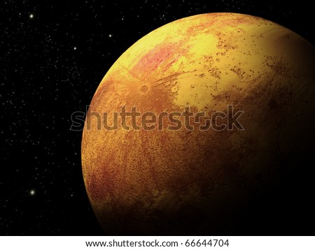 Background of the planet - stock photo