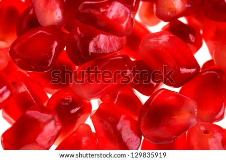 background of the pomegranate seeds