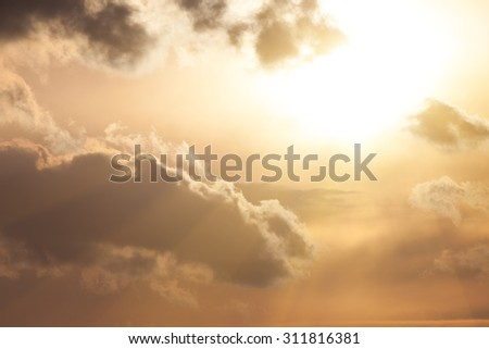 Background of the sky at sunset - stock photo