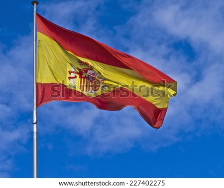 Background of the Spanish flag - stock photo