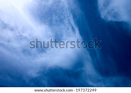 Background of the windy summer sky - stock photo