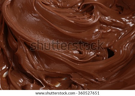 Background of thick melted milk chocolate, close-up - stock photo