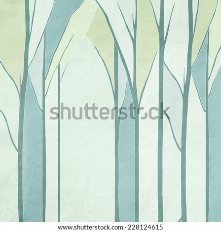 background of trees,, vintage