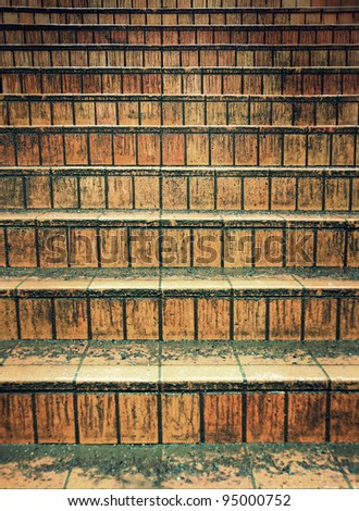 Background of very dirty empty staircase - stock photo