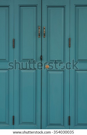 Background of vintage blue door