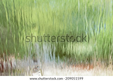 background of water falls from the inside - stock photo