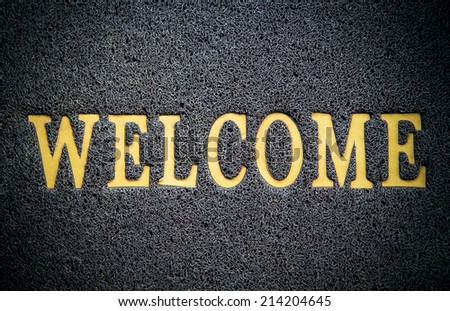 background of welcome carpet - stock photo