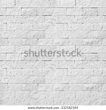 Background of white brick wall seamless close-up texture / room interior vintage with white brick wall and wood floor background - stock photo
