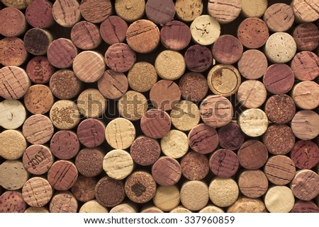 Background of wine corks. - stock photo