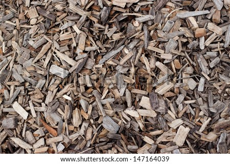 Background of wood chips - stock photo