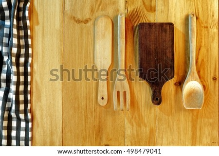 background of wooden table and free space for your decoration