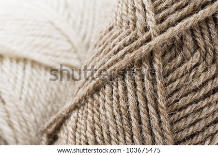 background of yarn skeins - stock photo